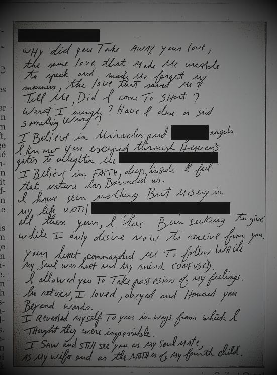 Michael Jackson love letter 2
