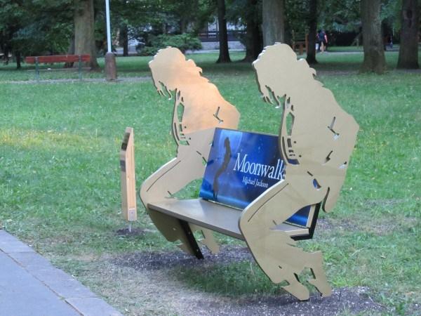 Michael Jackson bench Slovakia