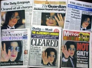 Michael Jackson trial 2005 innocent press covers