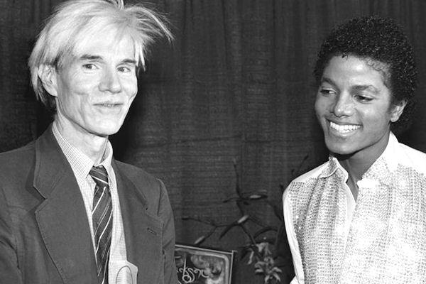 1981. Ο Μάικλ Τζάκσον με τον Άντυ Γουόρχολ