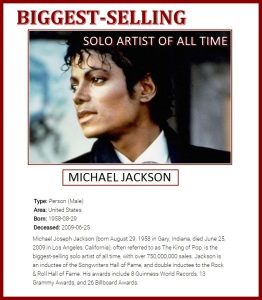 Michael Jackson acharts all time worldwide 2