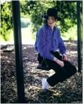 Ο Μάικλ Τζάκσον στην τεράστια έκταση της Νέβερλαντ. Χωρίς παπούτσια.
