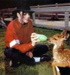 ο Μάικλ Τζάκσον με τα ζώα του