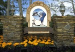 Exterior views of the entrance, house, statues and gardens at Michael Jackson's Neverland Ranch located near Los Olivos, Calif. in April 1995. (Photo by Stephen Kim/WireImage)