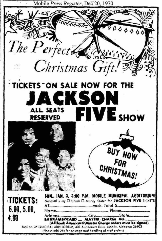 ackson 5 concert Christmas 1970