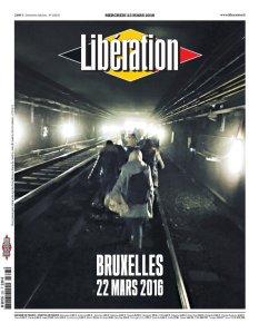 Το πρωτοσέλιδο της 23ης Μαρτίου 2016  της Liberation για την επίθεση στις Βρυξέλλες