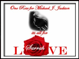 One Rose for Michael Jackson badge