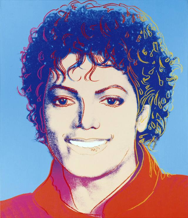 Michael Jackson artwork by Andy Warhol 1984