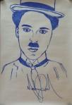 Σκίτσο του Τσάρλι Τσάπλιν από τον Μάικλ Τζάκσον