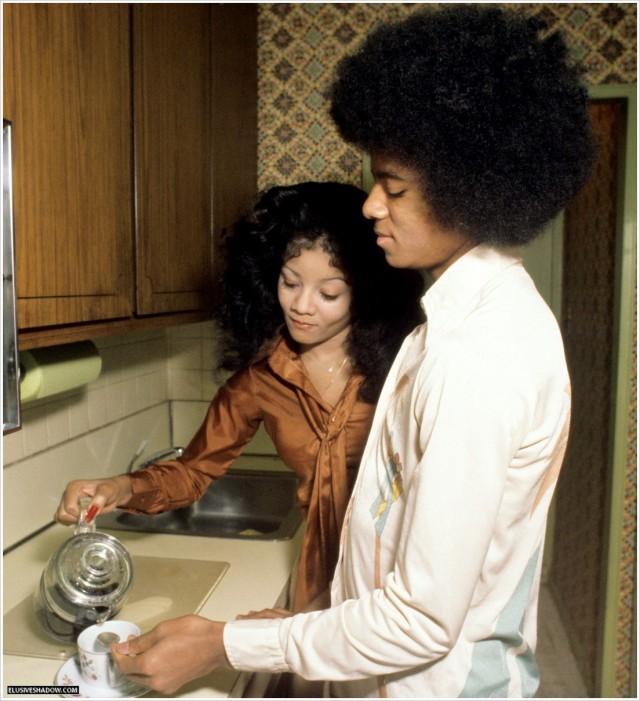 Michael Jackson Latoya Jackson NYC appartement 1976