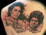 Michael Jackson tattoo now and then
