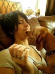 paris_jackson_kissed_by_dog