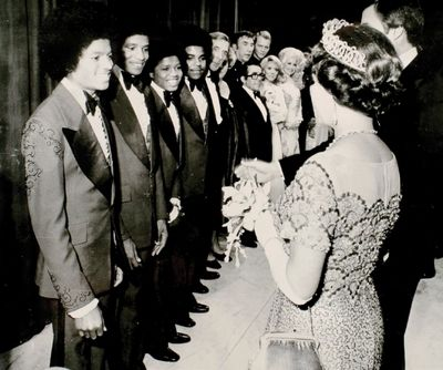 London, The Jacksons 1977 & Queen Elizabeth