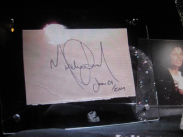 Michael Jackson June 24th 2009 autograph