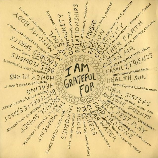 Rhonda Burns quote on gratefulness