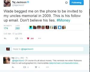 Taj Jackson Michael Jackson Wade Robson 2