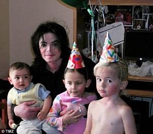 Michael Jackson with his children