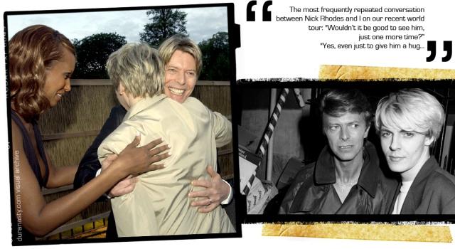 from duranasty webzine visual archive. Nick Rhodes on david Bowie