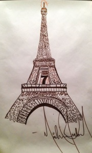 eiffel-tower-drawing-by-michael-jackson