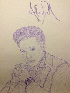 elvis-presley-drawing-by-michael-jackson