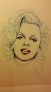 marilyn-monroe-drawing-by-michael-jackson-norma-jean-1989